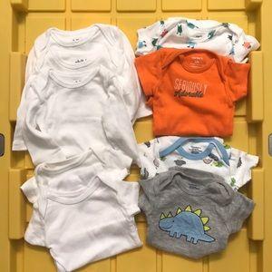 Newborn bodysuit x 9